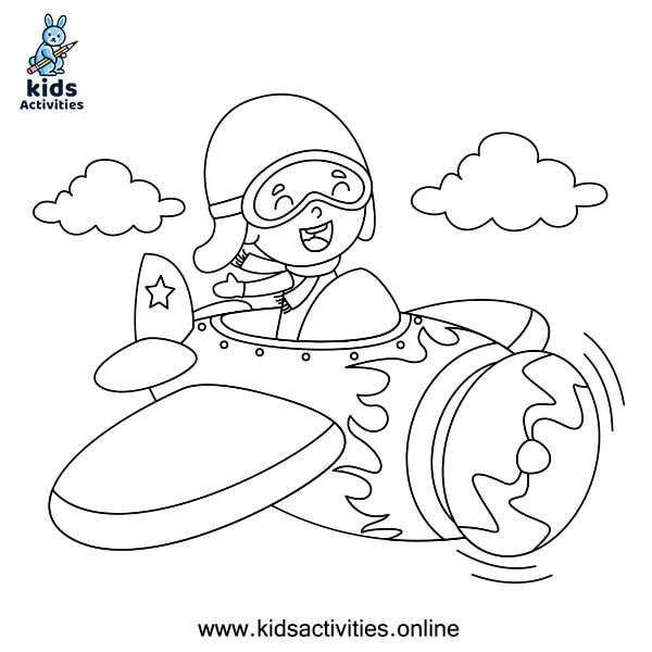 Cartoon colouring pages for boy