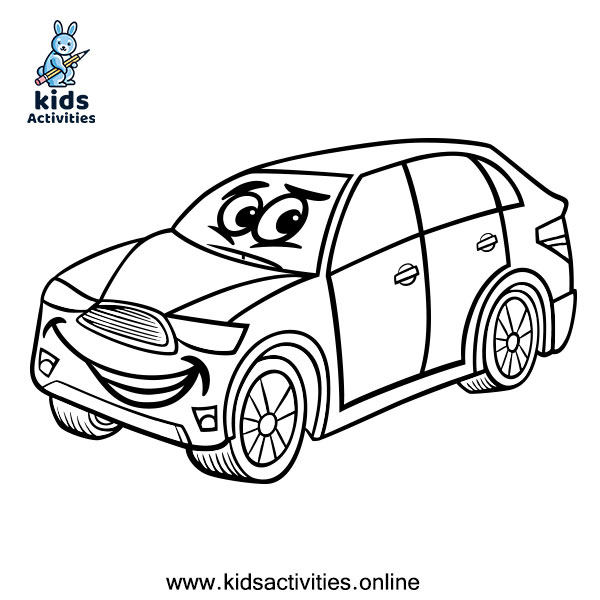 Free car coloring page printable