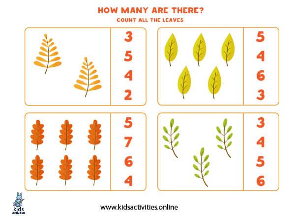 Worksheets for kindergarten counting