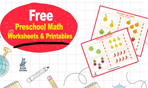 Free preschool math worksheets