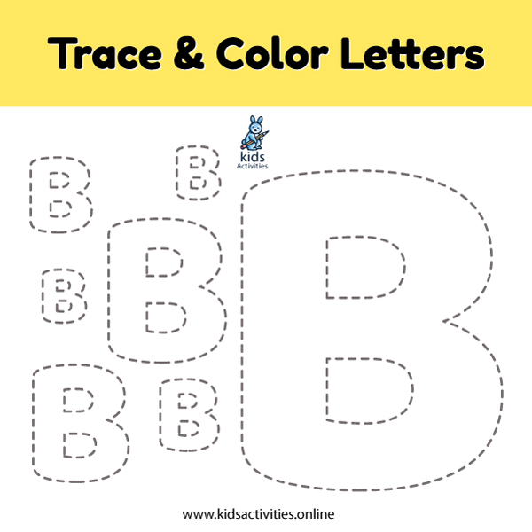 Trace line letter B