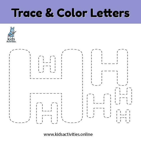 Trace line letter h
