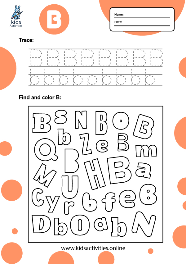 Tracing-letter-b-worksheets