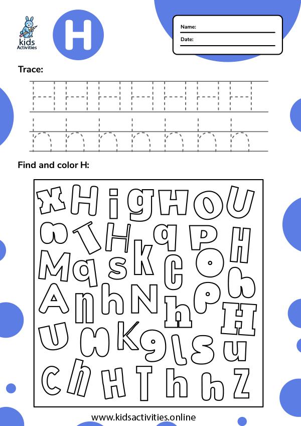 Tracing-letter-h-worksheets-