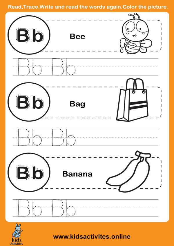 Kindergarten Alphabet (Letter B-b)