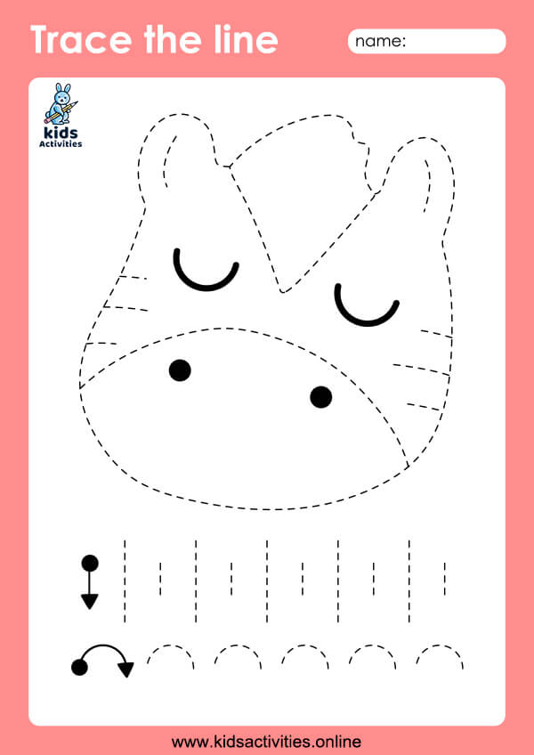 tracing lines worksheets for 3 year olds