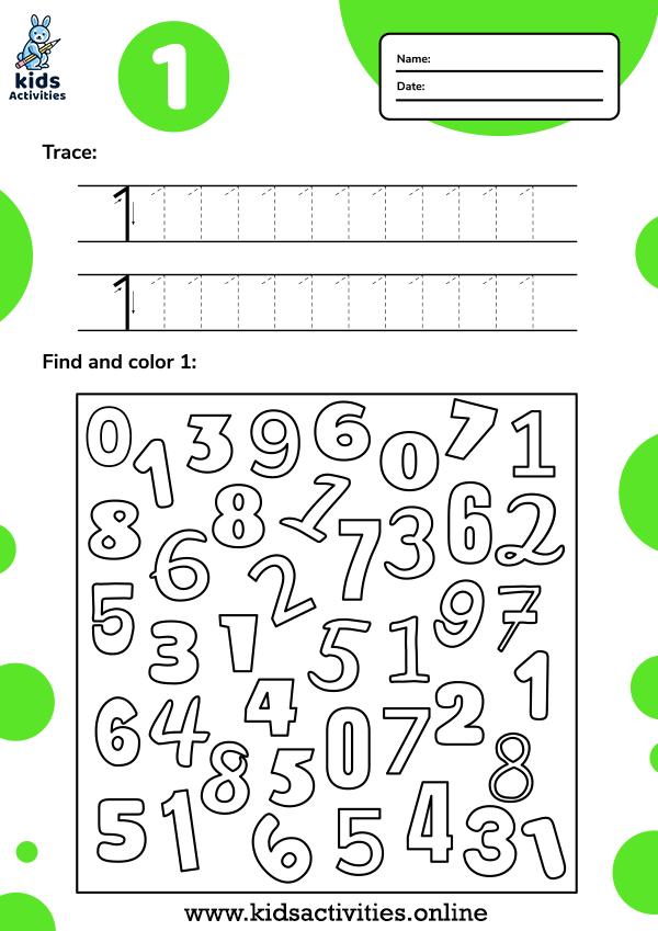 number tracing worksheets for preschool