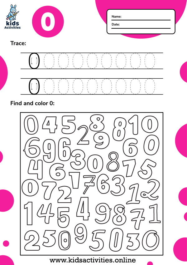 Tracing and Color Numbers