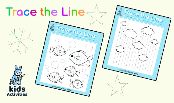 printable trace the lines worksheet for preschool