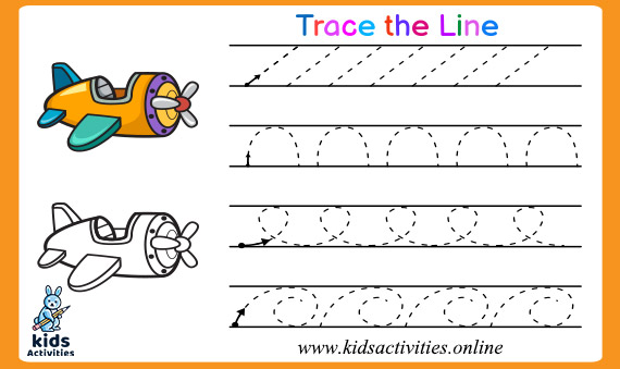 Free tracing lines worksheets for 3 year olds