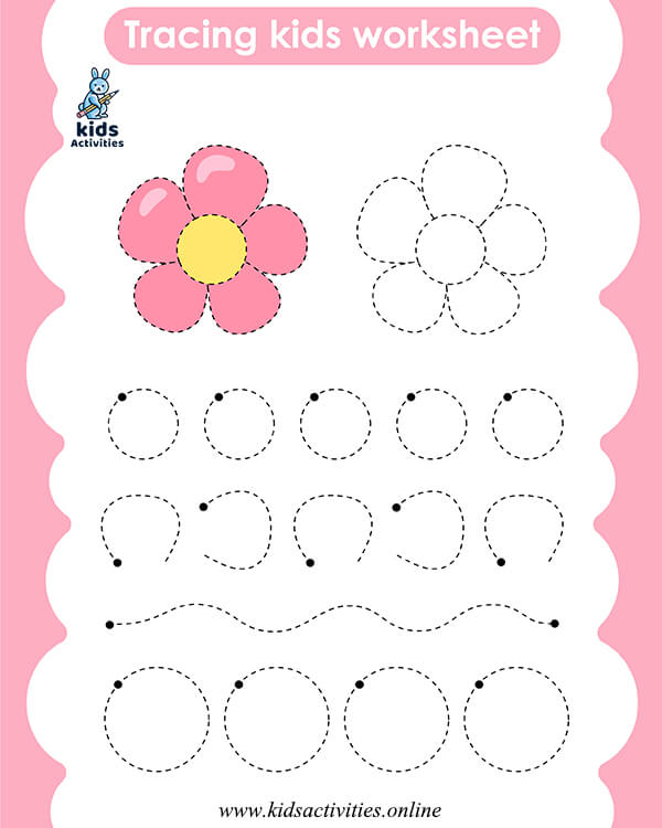 Tracing coloring pages for preschool - Pre-Writing Worksheets for preschool