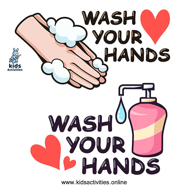 Doodle hand wash pictures cartoons