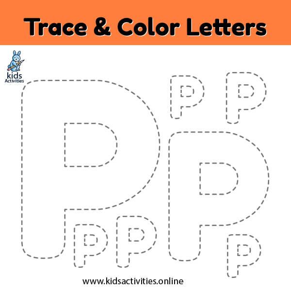 Trace-line-letter-P