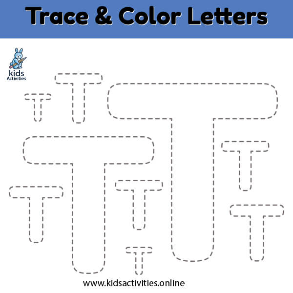 trace color letter s