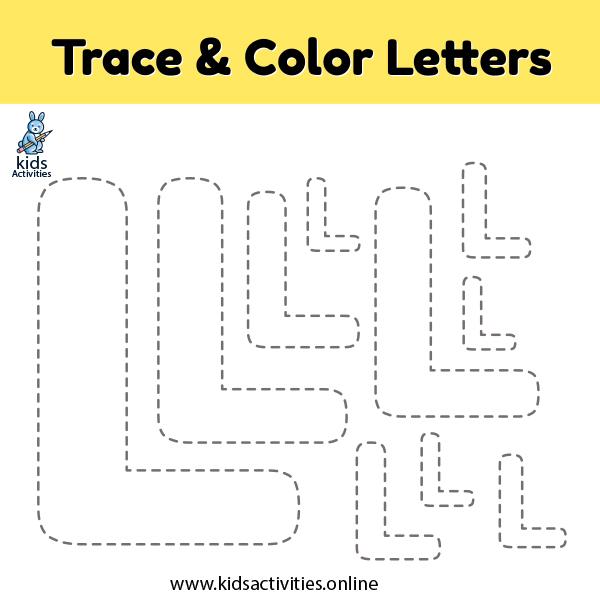 Trace line letter L