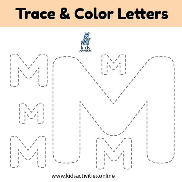 Free Printable Letter m Tracing Worksheets