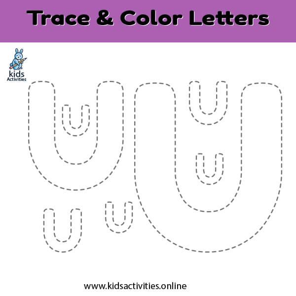 Free letter u tracing worksheets