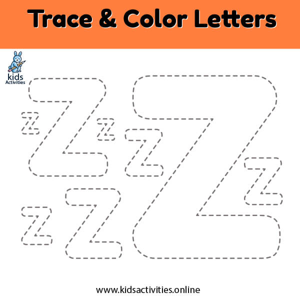 Free!- printable letter Z z tracing worksheets