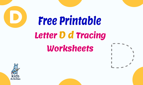 Letter D d Tracing Worksheets