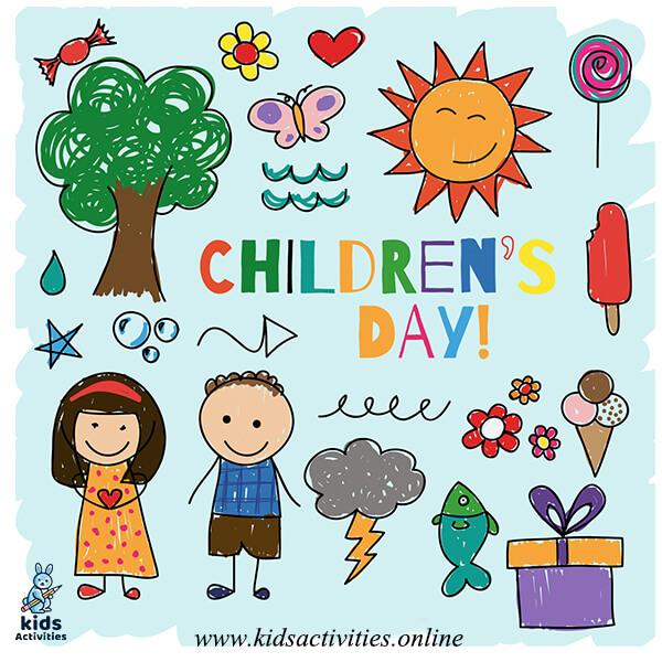 Hand-drawn world children's day