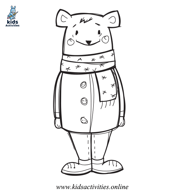 Cute Winter Coloring Pages For Preschool - Free Printable