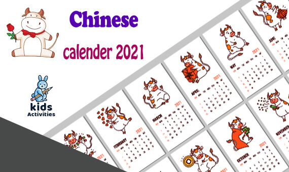 Free printable Chinese new year 2021 calendar