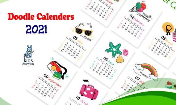 Doodle 2021 Calendar Templates - Free Download !!
