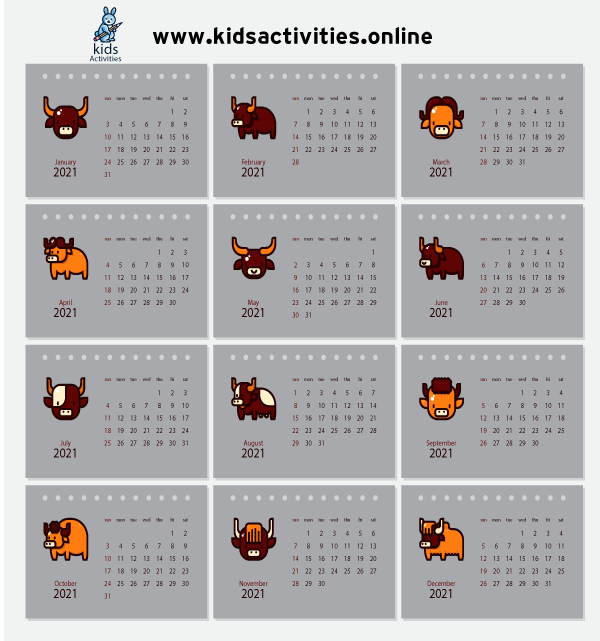 Chinese new year 2021 calendar free printable