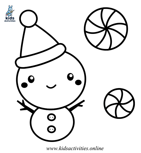 cute snowman colouring pages