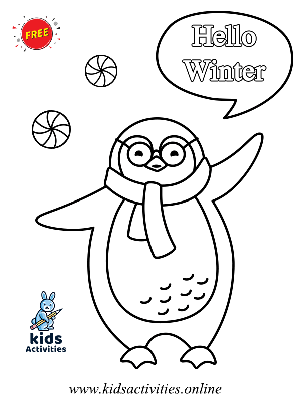 Winter Animals Colouring Pages - Free Printable