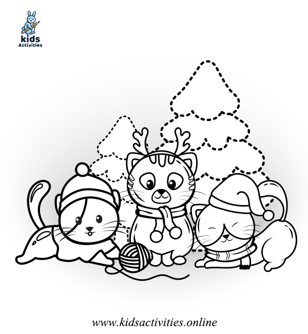 Bear Winter coloring book for kids