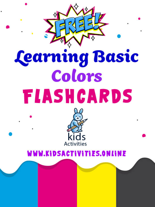 Free Basic Colors Flashcards - preschoolers and toddlers