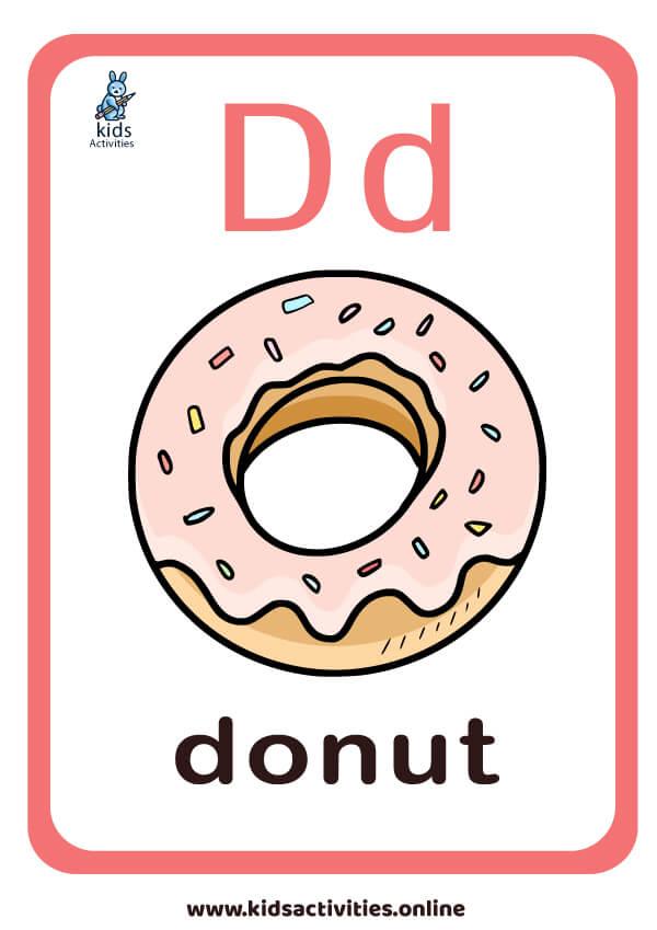 Letter D flashcard