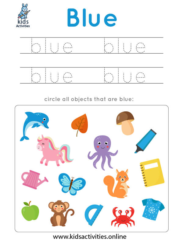 free learn colors worksheets for kindergarten