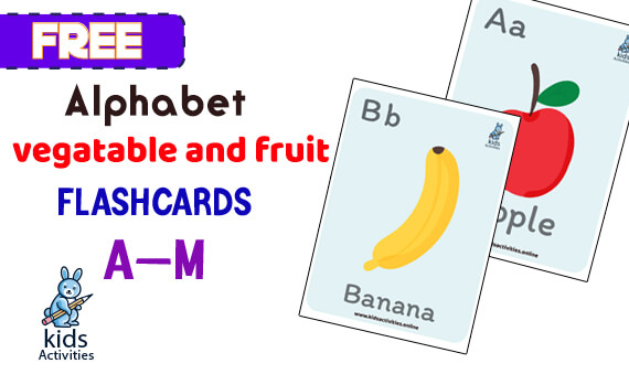 vegetable and fruit flashcard