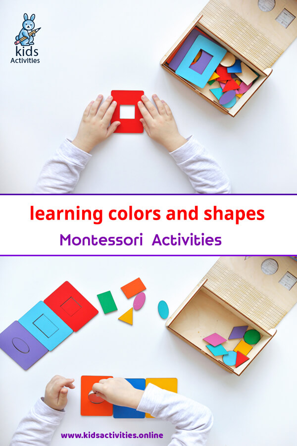 learning colors and shapes Montessori