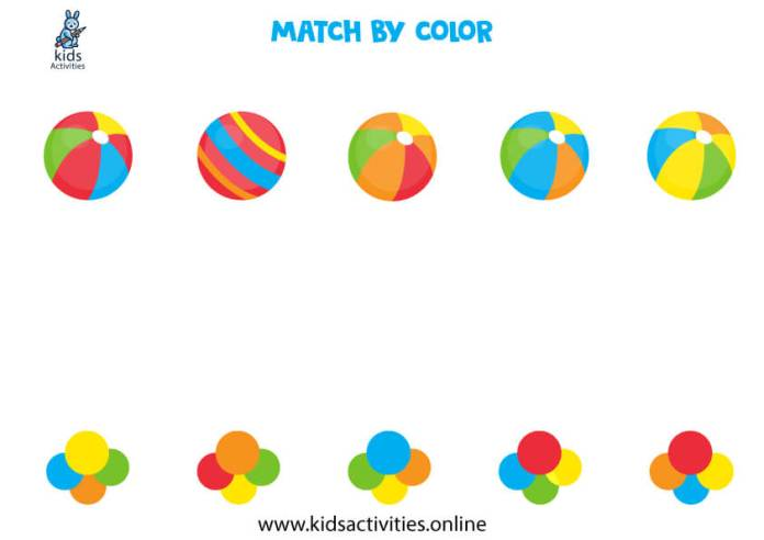 preschool color recognition worksheets