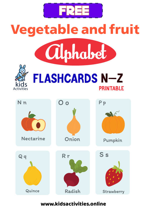abc fruits and vegetables