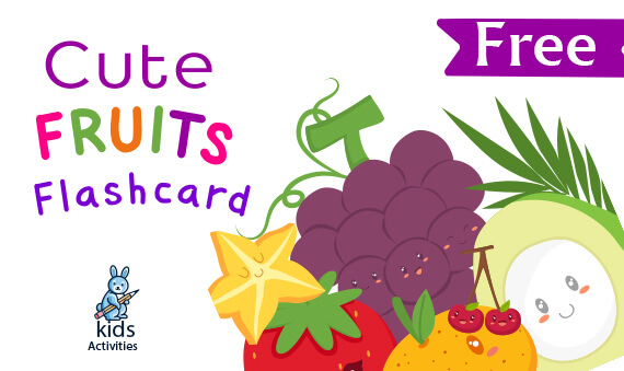 cute fruit flashcards