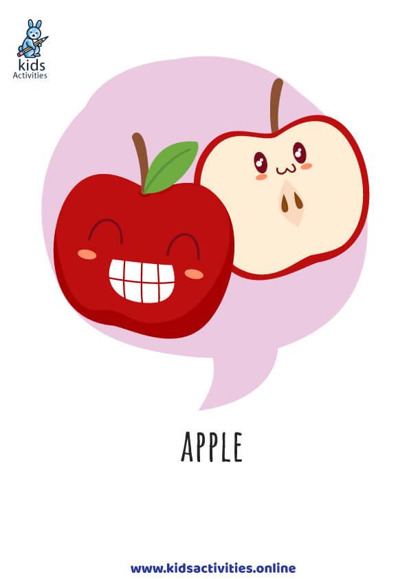 free fruits flashcards
