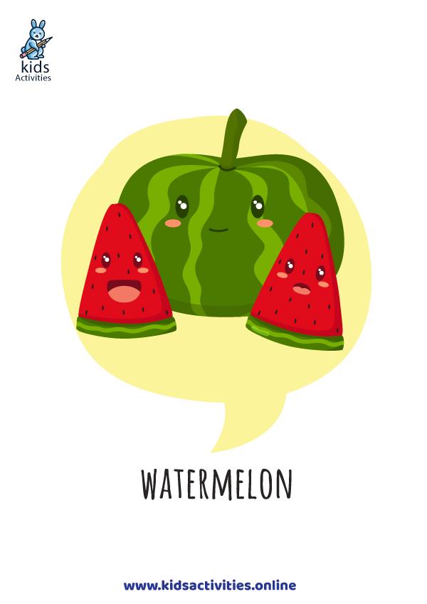 cute fruit - watermelon