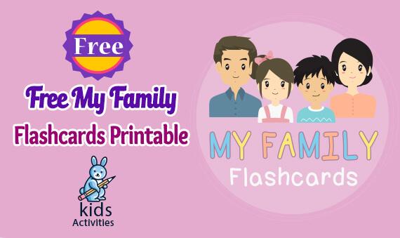 preschool family members flashcards