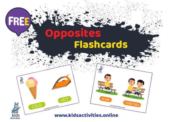Printable Opposites Flashcards