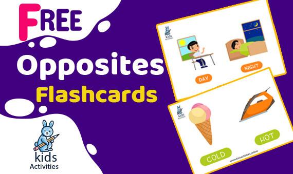 free printable opposites flashcards for preschoolers