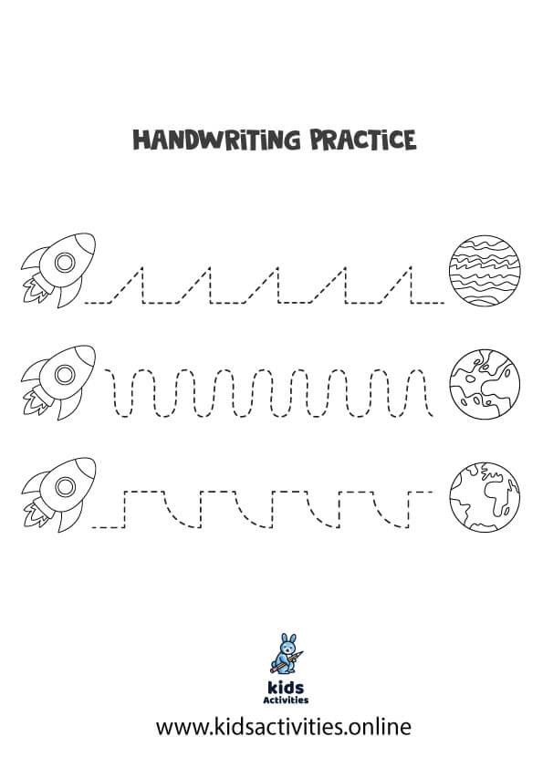 Free Printable practicing prewriting worksheets for kindergarten