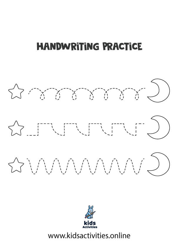 Printable worksheets for tracing lines