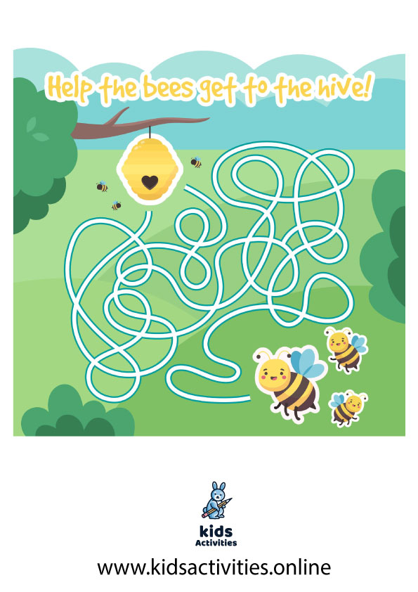 Printable maze for kindergarten pdf