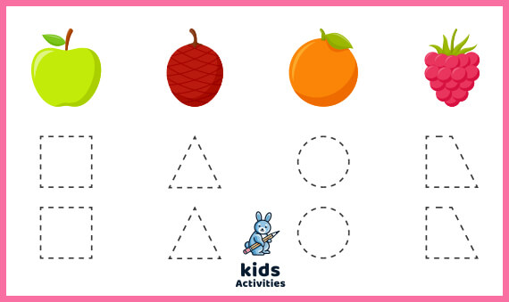 Free Printable tracing shapes worksheets for 4 year olds