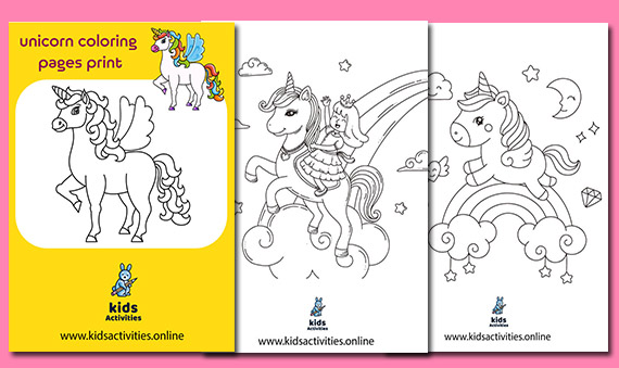 Free Printable unicorn coloring pages print