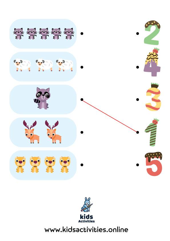 Free Printable Educational activities for kindergarten